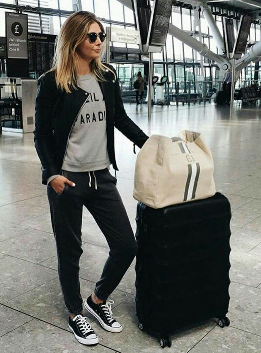 Summer comfortable airport outfits orlando international airport, street fashion