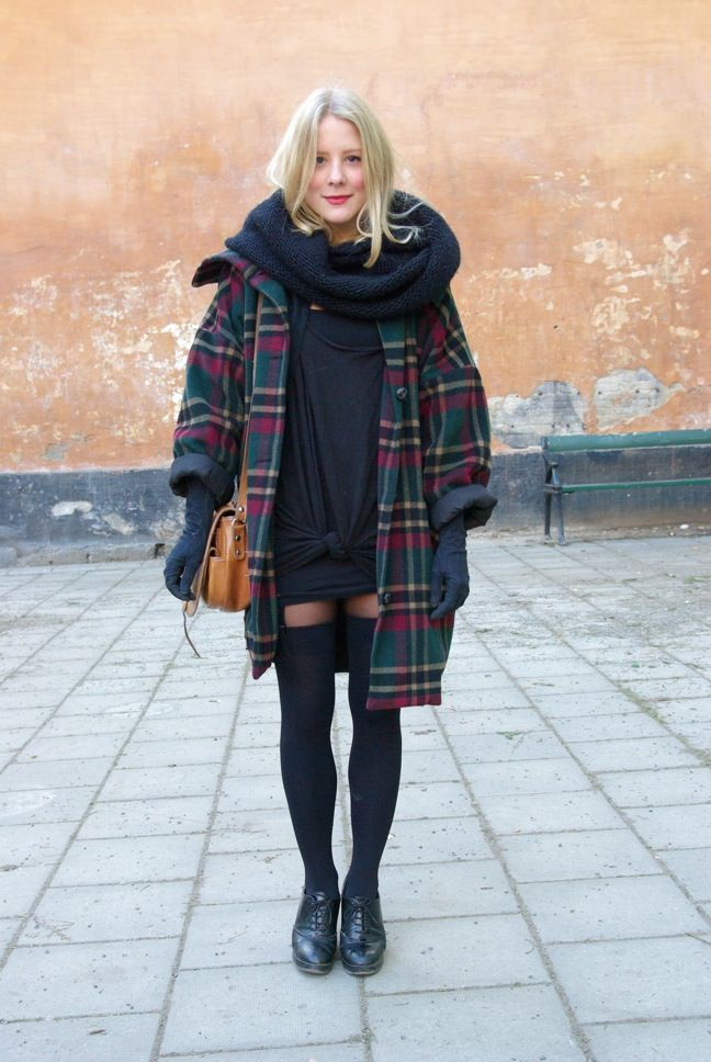 Outfit over the knee socks