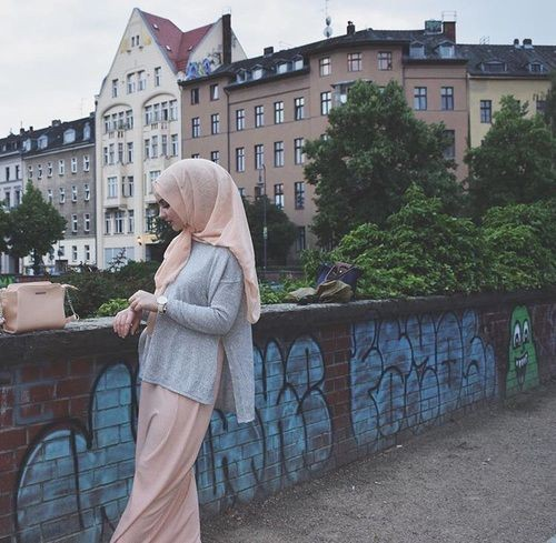 Colour outfit, you must try серый хиджаб, islamic fashion, street fashion, ask anything