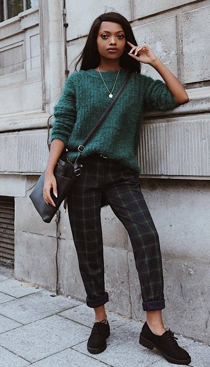 Patterned pants outfit winter, checkered pants, street fashion, fashion model, evening gown, pho ...