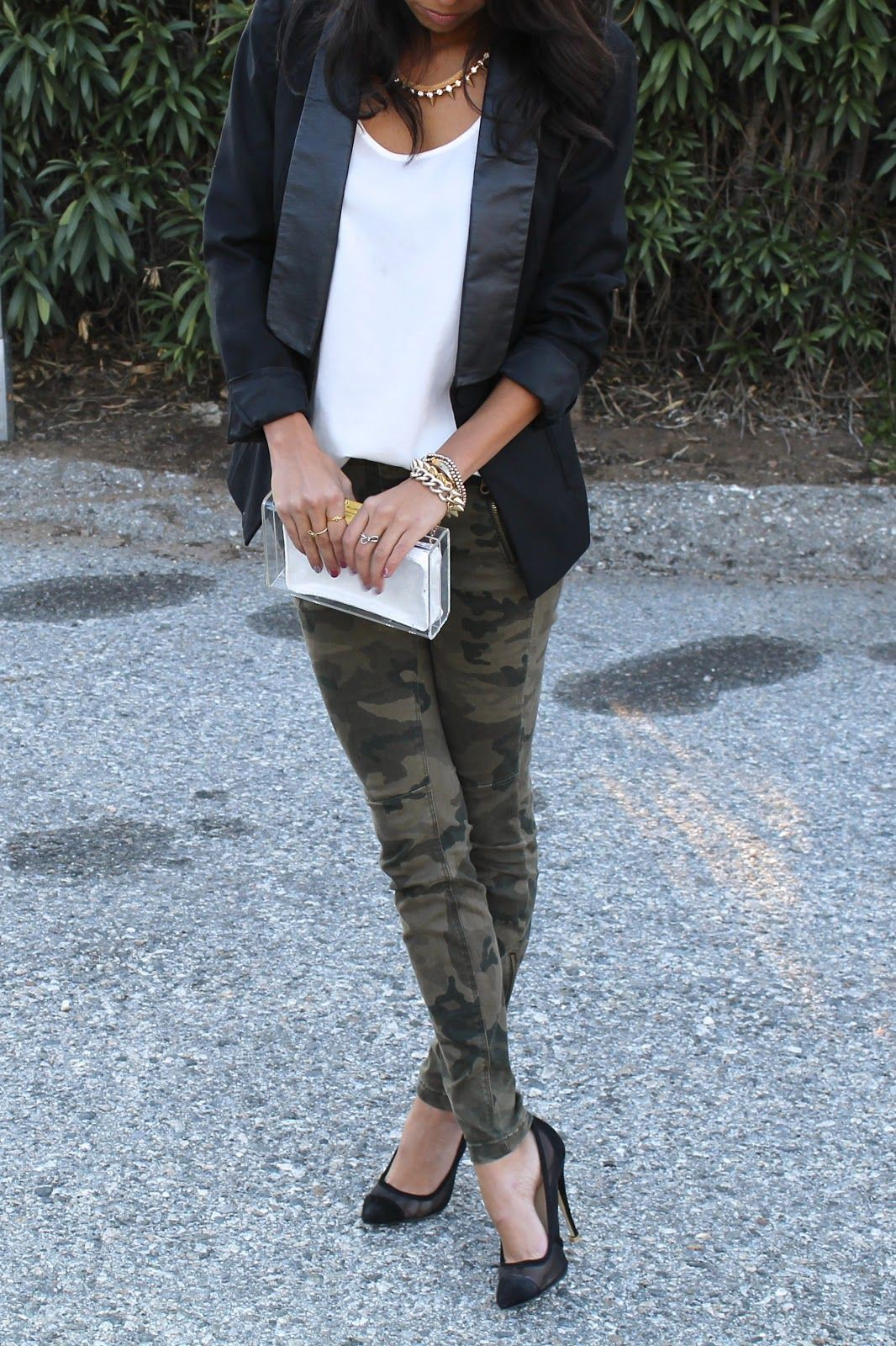 Brown and black colour outfit with trousers, jacket, blazer