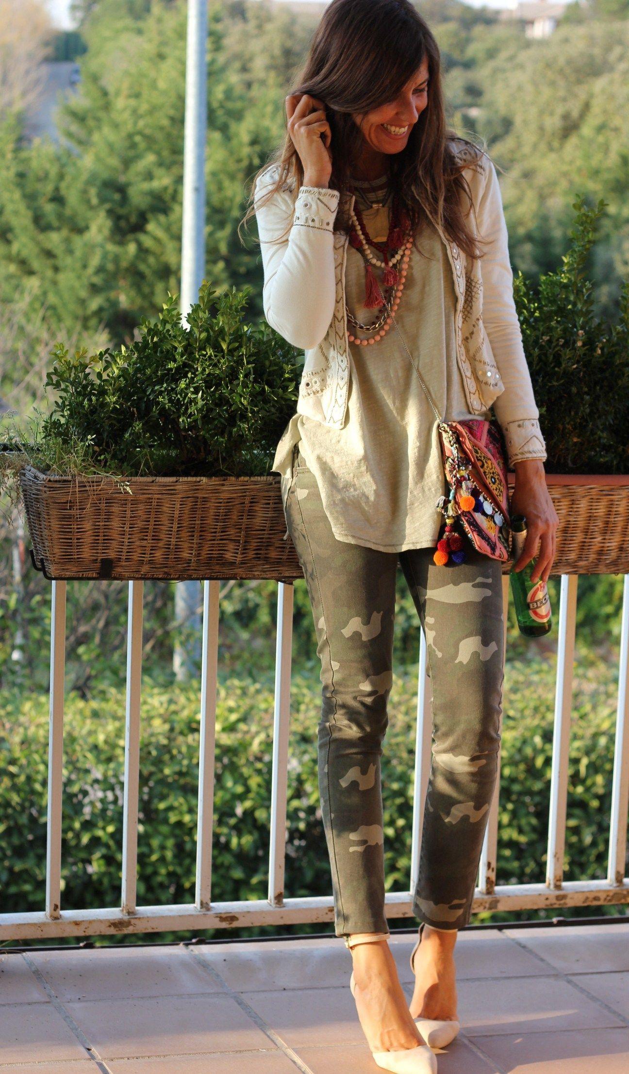 Colour ideas outfit ropa camuflaje, military camouflage, fashion accessory, street fashion, casu ...
