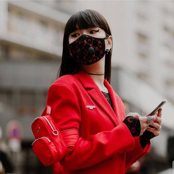 Outfit Pinterest marine serre mask personal protective equipment, paris fashion week