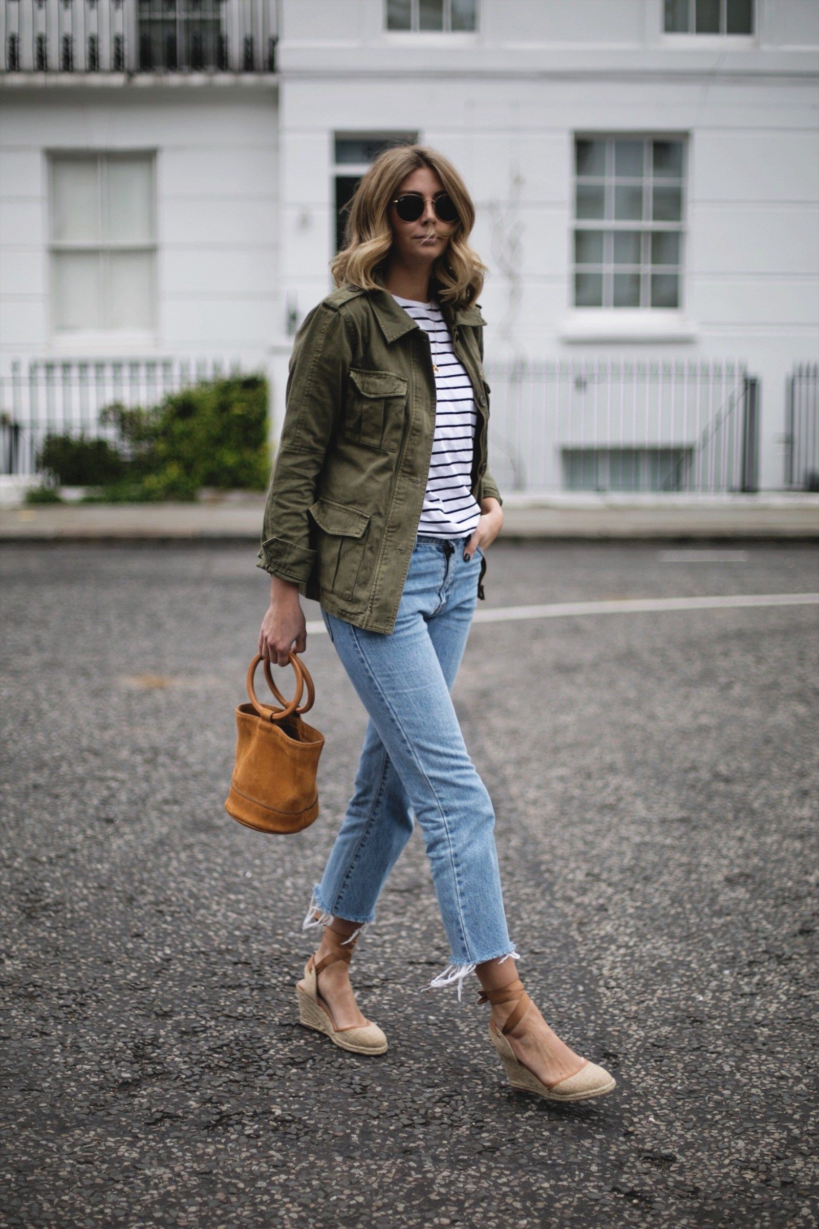 Outfit ideas khaki jacket outfit, street fashion