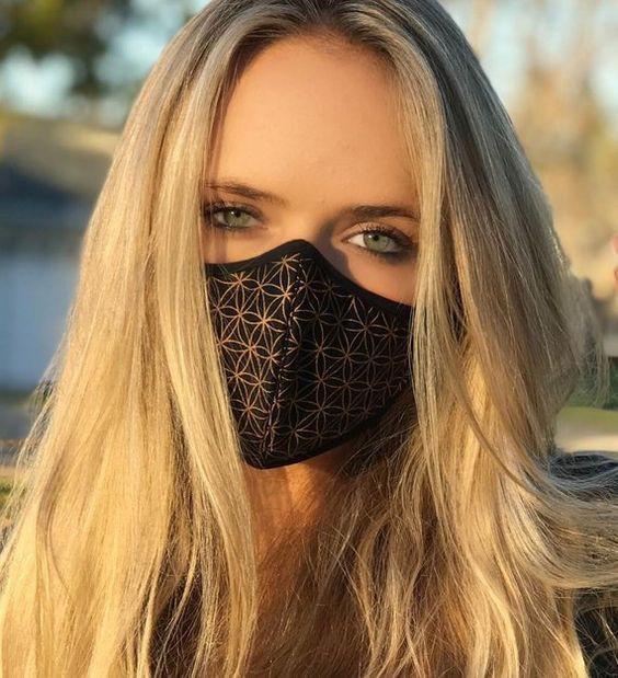 Air pollution mask fashion, surgical mask, air pollution, dust mask, long hair