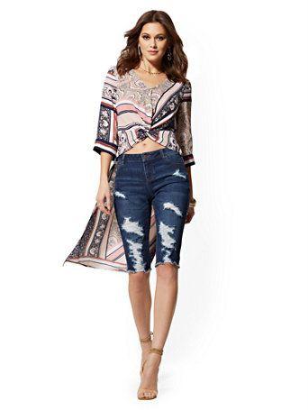 Colour dress with shorts, denim, jeans