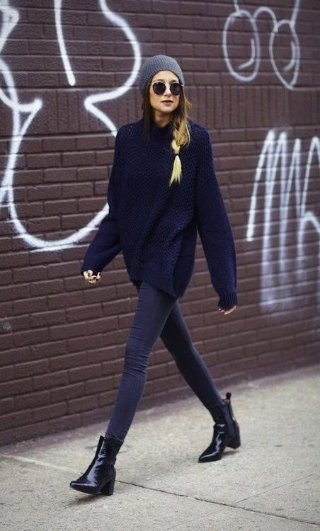 Colour outfit, you must try oversize sweater outfit, street fashion, casual wear