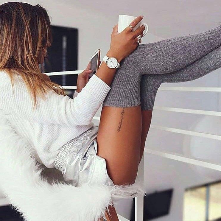 White dresses ideas with leggings