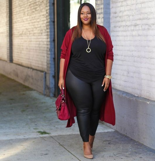 Outfits with burgundy cardigan plus size clothing, plus size model
