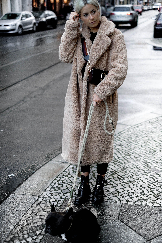 Outfit instagram instagram teddy coat, shearling coat, street fashion, fur clothing, teddy bear