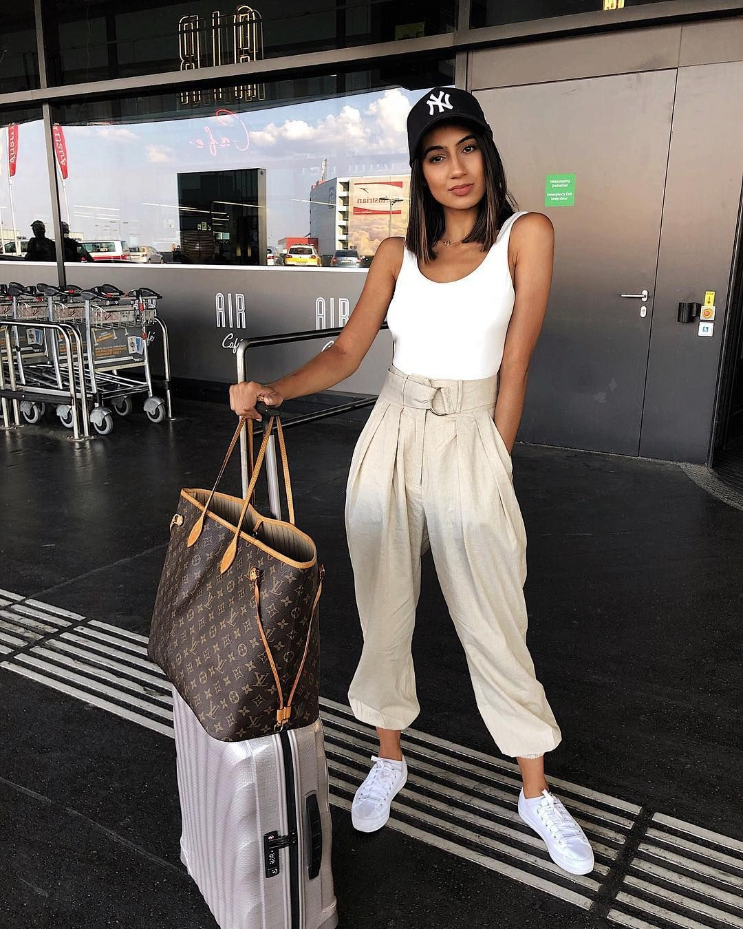 White outfit ideas with sportswear, trousers