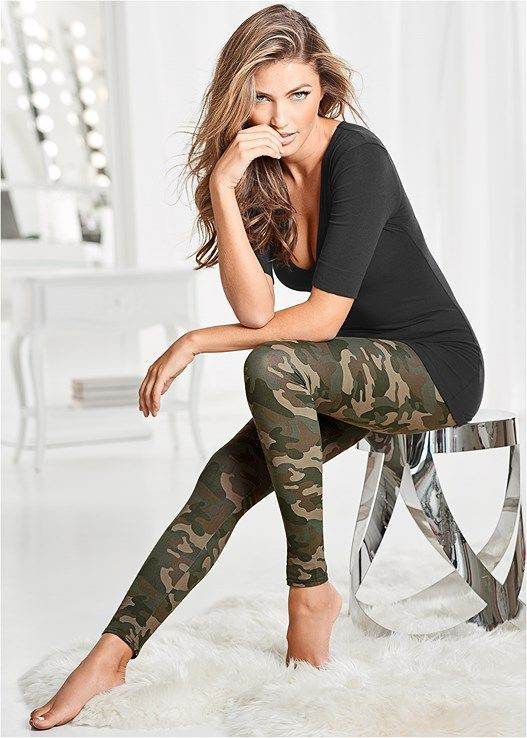 Colour outfit venus camo leggings sculpture leggings camo, military camouflage