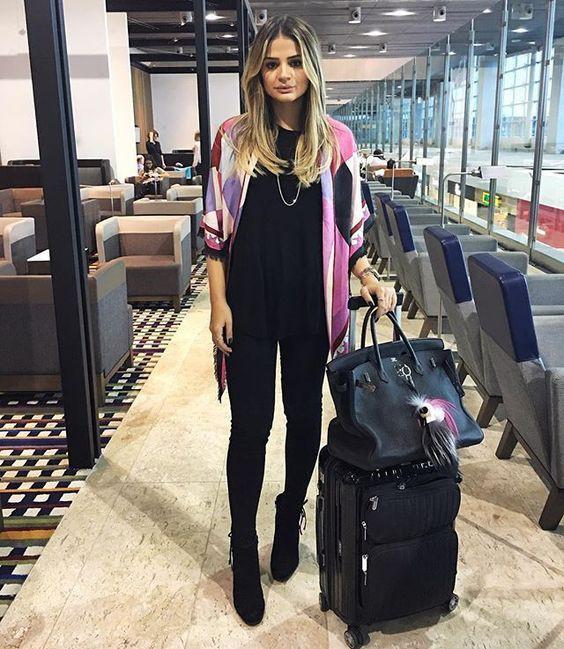 Looks para voos longos thássia naves, street fashion
