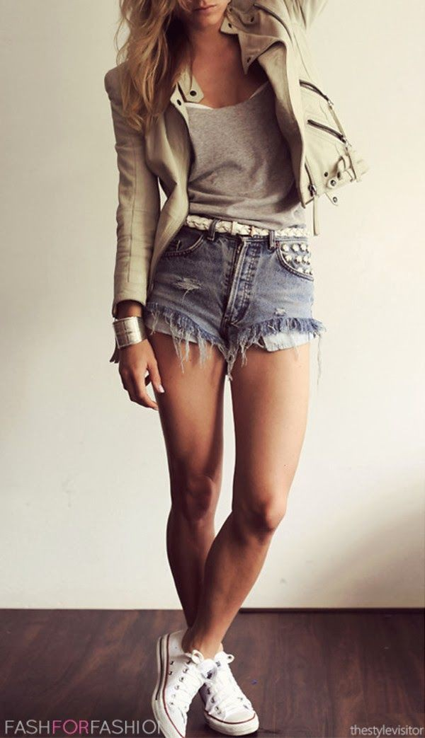 Outfit Stylevore teen fashion shorts, fashion love, casual wear, jean short, high rise
