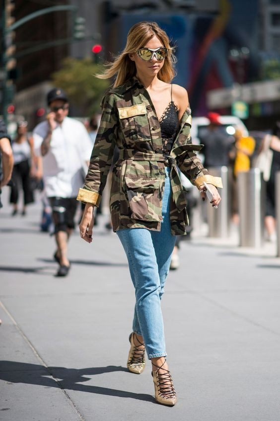 Colour combination with cargo pants, trousers, jacket