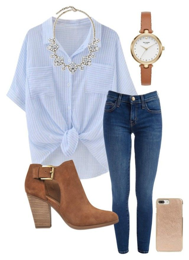 """Outfits for high school 2018: """"School"""" by abbyharshman8 on Polyvore featuring Kate S ..."""