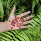 Easy DIY Floral Henna Design for Hands