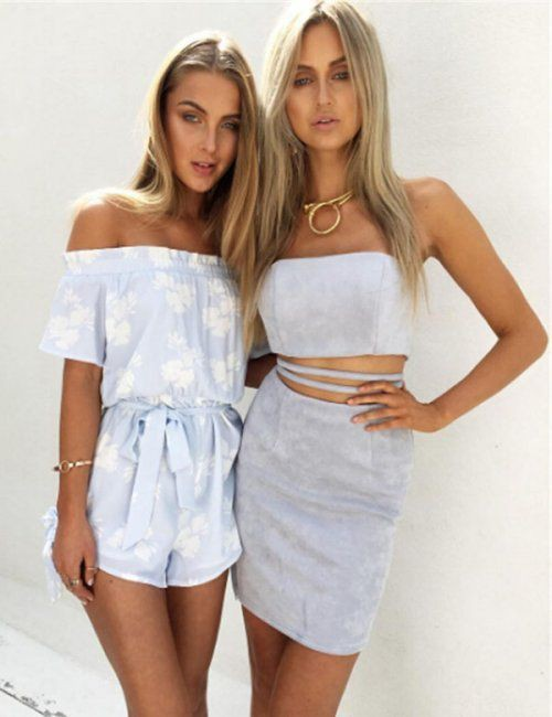 Sexy Off The Shoulder Crop Top Skirt Set | Summer Outfit Ideas 2020