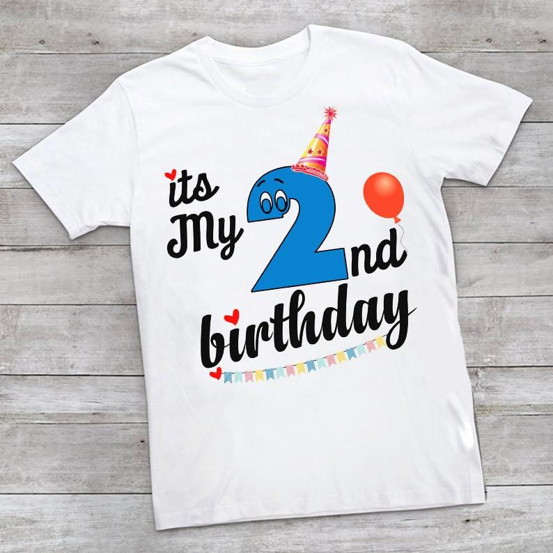 2nd Birthday T-Shirt, Baby Boy Girl Two year old Birthday T-Shirt