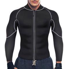 Men's Neoprene Long Sleeve Weight Loss Sauna Fitness Jacket – Nebility